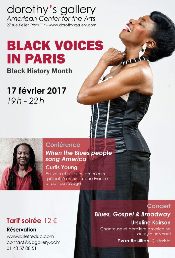 affiche Black Voices in Paris 17022017